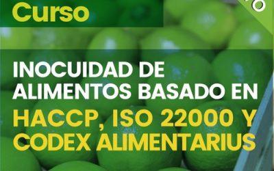 Curso: Inocuidad Alimentos basado en HACCP, E ISO 22000 y Codex Alimentarius